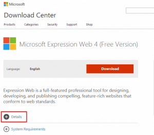 microsoft expression design ダウンロード